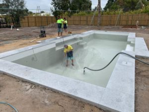 Pebble Concrete Pool