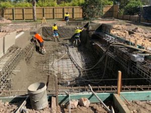 Pouring Concrete Pool